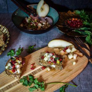 Granatapfel Birnen Salsa