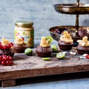 Schoggi Cupcake mit Cashew Frosting