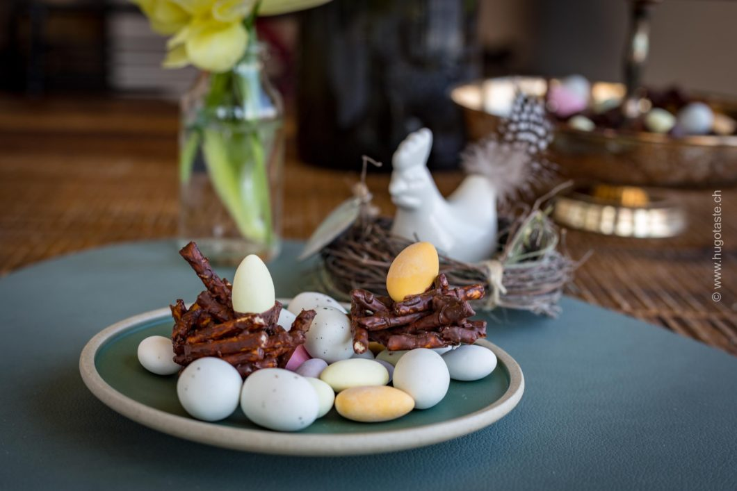 Oster Schoggi-Pretzel mit Erdnussbutter